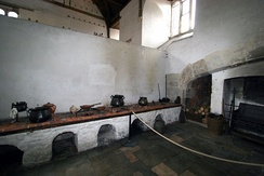 Henry VIII's first building project at Hampton Court created vast kitchens capable of feeding his court of 1,000 people.