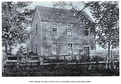 The parsonage in Salem Village, as photographed in the late 19th century