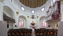 A Calvinist church in Semarang, Indonesia. Protestantism in Indonesia is largely a result of Calvinist and Lutheran missionary efforts during the colonial period.[21]