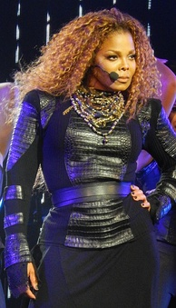Janet Jackson performing on her Unbreakable World Tour in 2015
