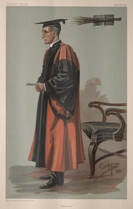 "Caricature of the Rev. Joseph Wood DD, Headmaster at Harrow (1898–1910) by George Algernon Fothergill (""GAF"")Caption reads: ""Harrow"""