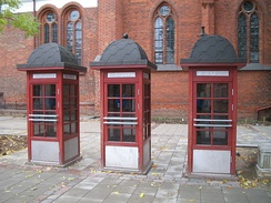 Public telephone booths in Kaunas