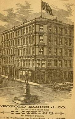 Leopold Morse's Store in Boston, cir. 1886