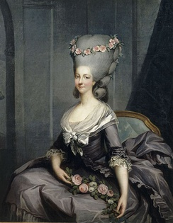 Marie Louise of Savoy-Carignan, Princesse de Lamballe was lady-in-waiting to Queen Marie Antoinette of France.