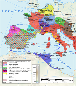 During his four-year reign Majorian reconquered most of Hispania and southern Gaul, meanwhile reducing the Visigoths, Burgundians and Suevi to federate status.