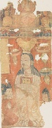 Uyghur Manichaean Elect depicted on a temple banner from Qocho.