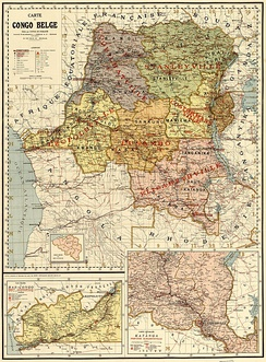 Map of the Belgian Congo