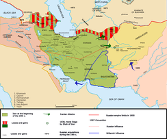 Delimitation of British and Russian influence in Iran