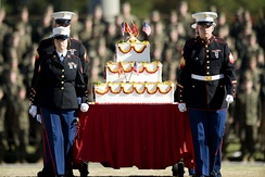 2008 Birthday celebration at Camp Lejeune