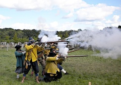 A historical civil war re-enactment