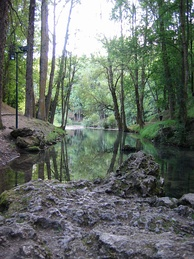 The source of the Ebro in Fontibre.