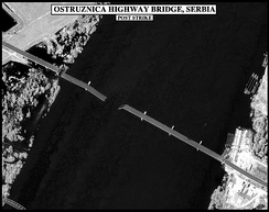 Ostruznica highway bridge hit during Operation Allied Force