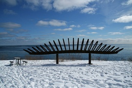 Sculpture at top of Scarborough Bluffs
