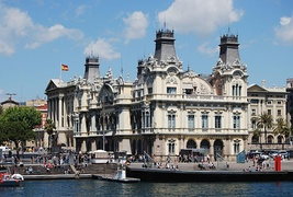 Barcelona's old Customs building at Port Vell