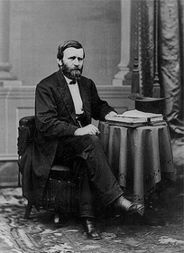 President Ulysses S. GrantThe Dominican Republic annexation treaty caused bitter contention between President Grant and Sen. Sumner. --Brady 1869