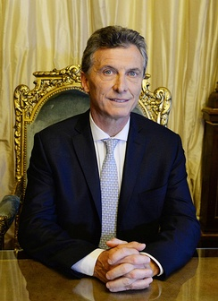 President Mauricio Macri of Argentina, as the Commander-in-chief of the Argentine Armed Forces since December 10th 2015.