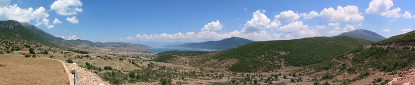 The Lake of Prespa part of the Prespa National Park and Ohrid-Prespa Transboundary Biosphere Reserve positioned in the southeastern edge of Albania.[60]