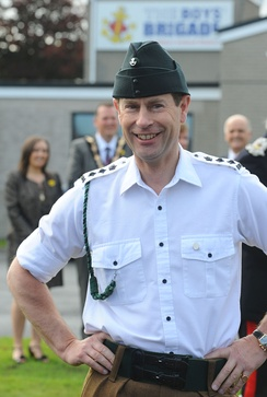 Prince Edward wearing the barrack dress uniform of The Rifles in the rank of colonel.