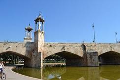 Pont de la Mar is one of the five existing medieval and early-modern bridges of the city