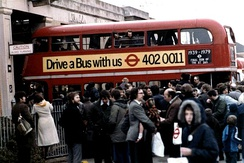 The last RT bus in regular service at Barking Garage on 7 April 1979