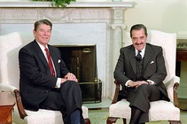 Alfonsín met with U.S President Ronald Reagan.