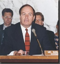 Senator Shelby chairing the Senate Committee on Banking, Housing and Urban Affairs