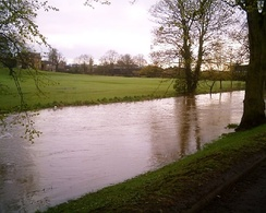 River Skerne in flood, April 2005
