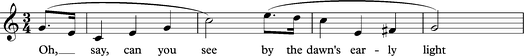 "Opening bars of ""The Star-spangled Banner"""