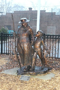 Statue of Harriet Tubman in Ypsilanti, Michigan.