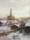 The Sukharev Tower in an 1872 painting by Alexei Savrasov