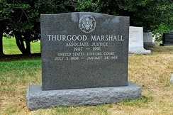Marshall's grave at Arlington National Cemetery
