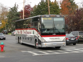 A Van Hool C2045-L in New York City