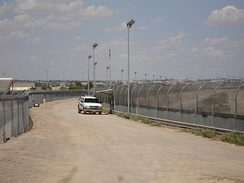 El Paso is on the US Mexico border