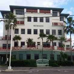 Ugland House, the Cayman Islands.  The Caribbean, including the Caymans, the British Virgin Islands and Bermuda, has several major Sink OFCs, is the second largest global tax haven (in aggregate),[2] and largest OFC shadow banking centre.[3]