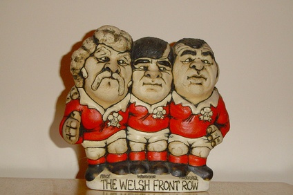 "A grogg of the famous ""Pontypool front row""."