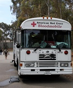 1989-1991 All American front-engine in use as a bloodmobile