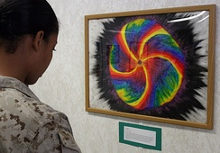Service members use art to relieve PTSD symptoms.
