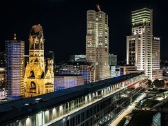 Breitscheidplatz with Kaiser Wilhelm Memorial Church is the center of City West.
