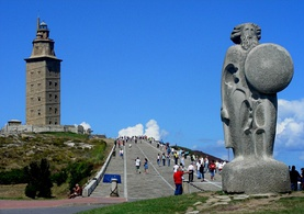 Tower of Hercules, a Roman lighthouse and a World Heritage monument, A Coruña