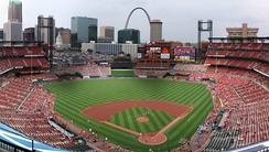 Busch Stadium in downtown St. Louis