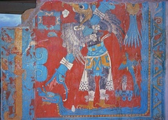 One of the murals at Cacaxtla