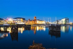 Redevelopment in the city's historic Cardiff Bay area