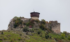 Castle of Petrelë, built in the 6th century by Justinian I.