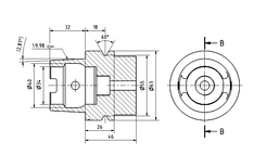 Engineering drawing of a machine tool part