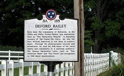 Tennessee Historical Commission marker near Bailey's birthplace in Smith County