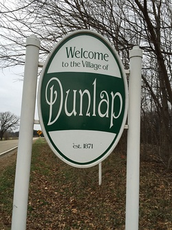 Dunlap welcome sign