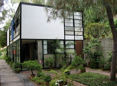 Eames House by Charles and Ray Eames, Pacific Palisades,  (1949)