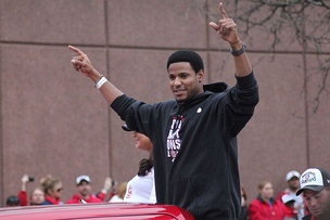 Jackson during the 2011 World Series victory parade