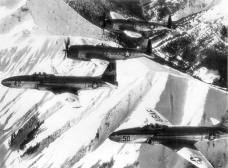 F-80s and F-47s of the 36th Fighter and 86th Composite Groups over Germany, 1948.