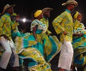 """Fiesta in Palenque"" traditional African Colombian dance from San Basilio de Palenque, a former enclave, now considered by the UNESCO a Masterpieces of the Oral and Intangible Heritage of Humanity."